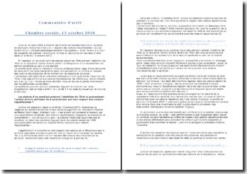 Cour de cassation, Chambre sociale, 13 octobre 2010: le principe de représentativité du syndicat