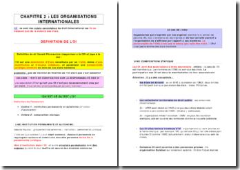 Définition des organisations internationales