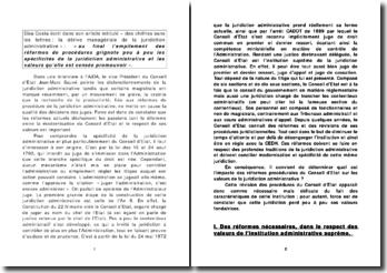 Quel est l'impact des réformes procédurales du Conseil d'Etat sur les valeurs de la juridiction administrative ?