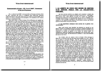 Conseil d'Etat, 6 avril 2007: droits et obligations des collectivités publiques