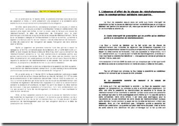 Cour de cassation, Chambre civile, 11 février 2010: la solidarité entre codébiteurs