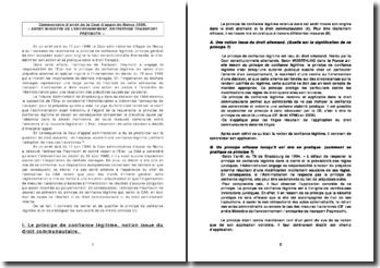 Cour administrative d'appel de Nancy, 17 juin 1999: le principe de confiance légitime et ses exclusions