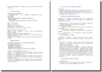 Les risques biologiques : réglementation, évaluation et mesures de prévention