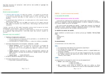 Droit des structures de l'entreprise : droit commun des sociétés et typologie des différentes structures