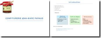 Diagnostic stratégique et suggestions pour le développement de la confiture Jean-Marc Faraud