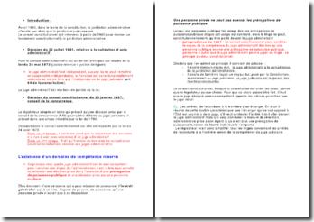La consécration constitutionnelle de la juridiction administrative