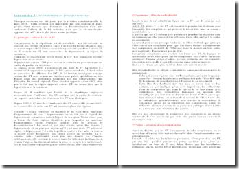 Les principes nouveaux apportés par la révision constitutionnelle