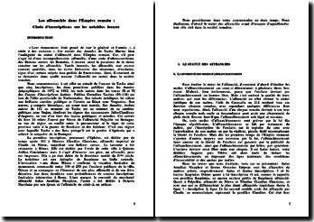 Les affranchis dans l'Empire romain: commentaire d'extrait des Annales de Tacite
