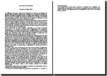 Les pertes du mandataire, Cour de cassation, 7 juillet 2004
