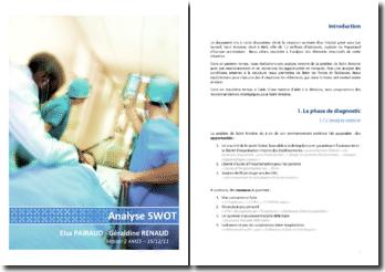 Analyse SWOT de l'hôpital Saint Antoine