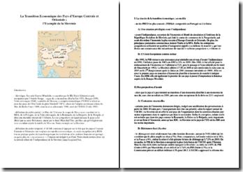 La transition économique des pays d'Europe centrale et orientale: exemple de la Slovénie