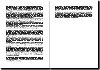 Arrêt de la cour Civ 1re, 31 mars 1992 : la liquidation de la communauté
