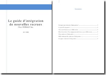 SNIRALC: le guide d'intégration de nouvelles recrues