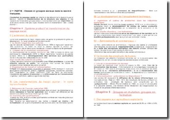 Les classes et groupes sociaux dans la société française