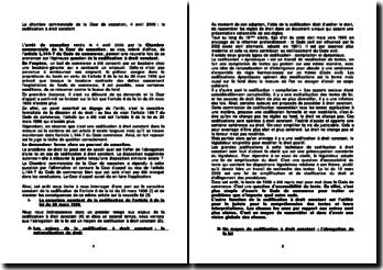 La chambre commerciale de la Cour de cassation, 4 avril 2006 : la codification à droit constant