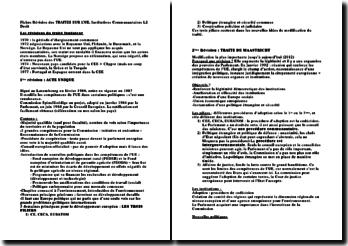 Institutions communautaires: les révisions du traité fondateur