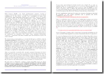 Les droits fondamentaux et le contrat de bail