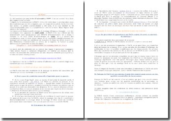 Le PACS: instauré par une loi du 15 novembre 1999, c'est un contrat