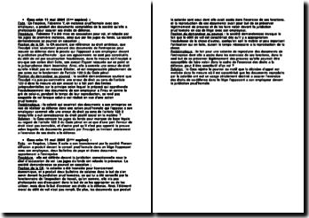 Cours de Cassation criminelle du 11 mai 2004