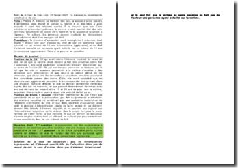 Arrêt de la Cour de Cass crim, 21 février 2007 : la menace ou la contrainte constitutive de viol