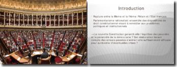 Le parlementarisme rationalisé, rupture entre la IIIè et la IVè République