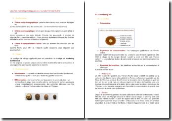 Les choix marketing stratégiques pour le produit Ferrero Rocher (2005)