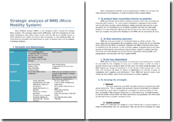 Strategic analysis of MMS (Micro Mobility System)