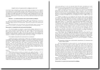 L'égalité civile et la personnalité juridique en droit civil