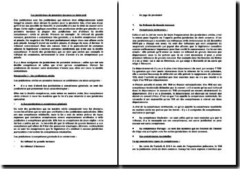 Les juridictions de première instance en droit civil