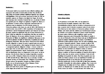 Extrait de trois articles de la loi scolaire de Jules Ferry du 28 mars 1882