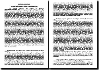 La croisade albigeoise, Les actes de la dispute (« concile ») - Lombers, 1165