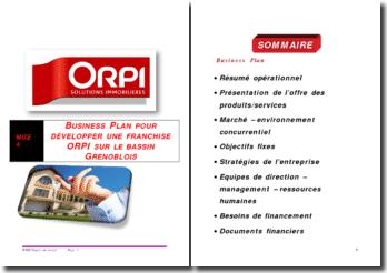 Etude de marché en vue de développer une franchise Orpi sur le bassin grenoblois
