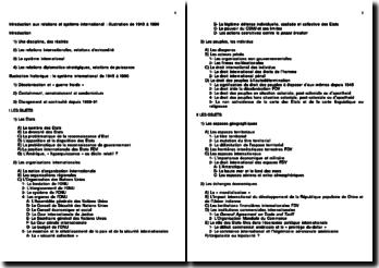 Introduction aux relations et système international : illustration de 1945 à 1990