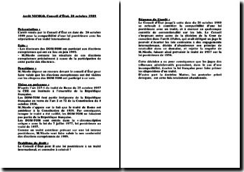Conseil d'Etat, 20 octobre 1989, arrêt Nicolo: la compatibilité d'une loi postérieure aux stipulations d'un traité international