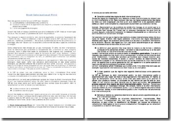 Cours de droit international privé: le conflits de lois
