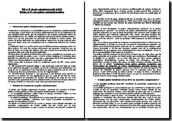 La police administrative: distinction entre police administrative et judiciaire et finalité