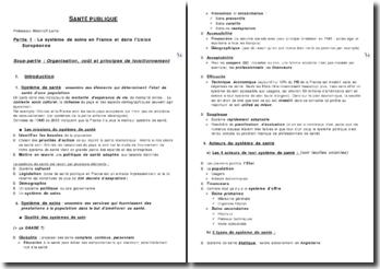 Santé publique: le système de soins en France et dans l'Union Européenne