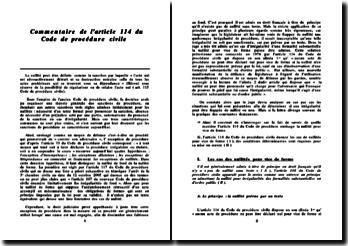 Commentaire de l'article 114 du Code de procédure civile
