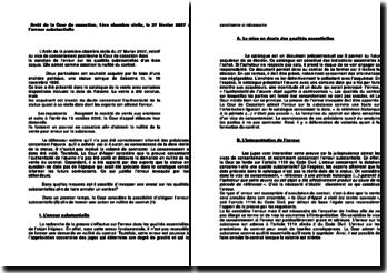 Arrêt de la Cour de cassation, 1ère chambre civile, le 27 février 2007 : l'erreur substantielle