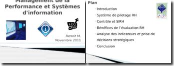 Le management de la performance et systèmes d'information