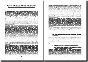 Conseil d'Etat, 26 mars 2008, 22 janvier 2010: l'impact fiscal du coup d'accordéon