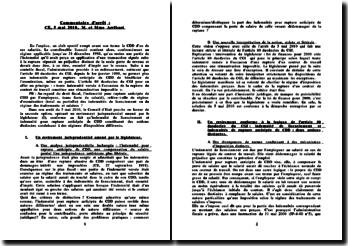 Conseil d'Etat, 5 mai 2010: indemnités pour rupture anticipée de CDD