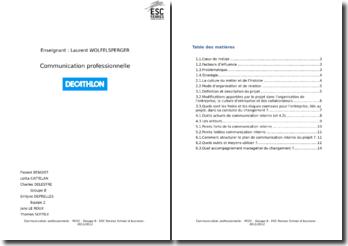 Communication professionnelle: Décathlon
