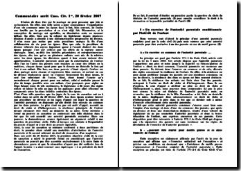 Commentaire d'arrêt Cass. Civ. 1er, 20 février 2007: compromis entre les deux intérêts contraires des époux