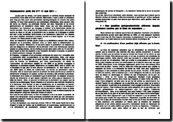 Commentaire d'arrêt Civ 3ème 11 mai 2011: la rétractation d'une promesse unilatérale de vente