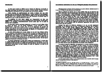 Introduction au droit pénal spécial : les atteintes volontaires, involontaire à la vie ou à l'intégrité physique des personnes, l'abus par état de faiblesse ou d'ignorance