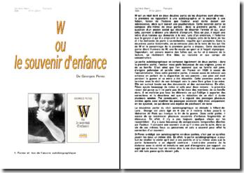 W ou le souvenir d'enfance - Georges Perec