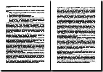 L'évolution des critères de la Responsabilité Sociale en Entreprise (RSE), étude du cas Areva