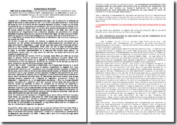 Commentaire de l'article 111-5 du Code pénal : les juridictions pénales