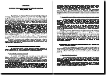 Arrêt de la Chambre commerciale de la Cour de cassation, du 15 octobre 1991: le cautionnement par un dirigeant de société anonyme